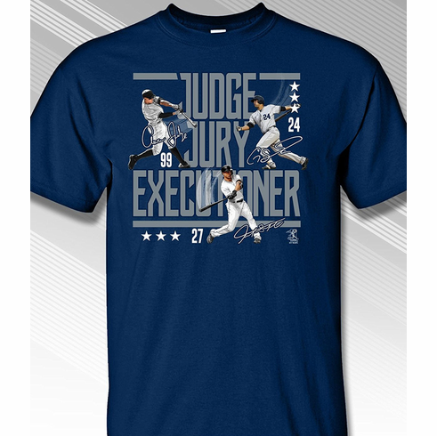 Judge Jury Executioner New York T-Shirt<br>Short or Long Sleeve<br>Youth Med to Adult 4X