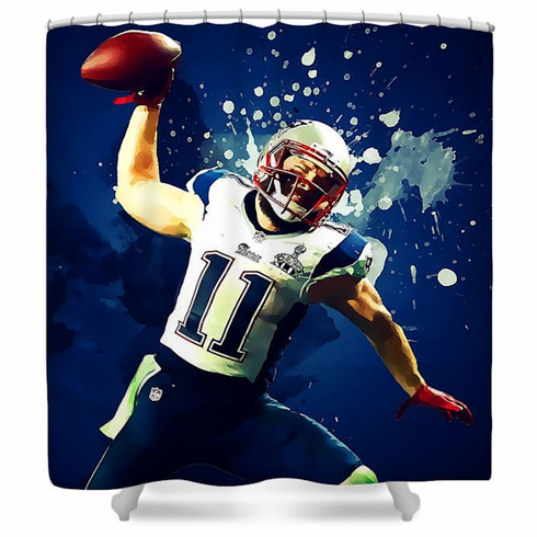 Julian Edelman New England Patriots Shower Curtain