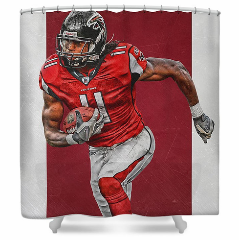 Julio Jones Atlanta Falcons Shower Curtain