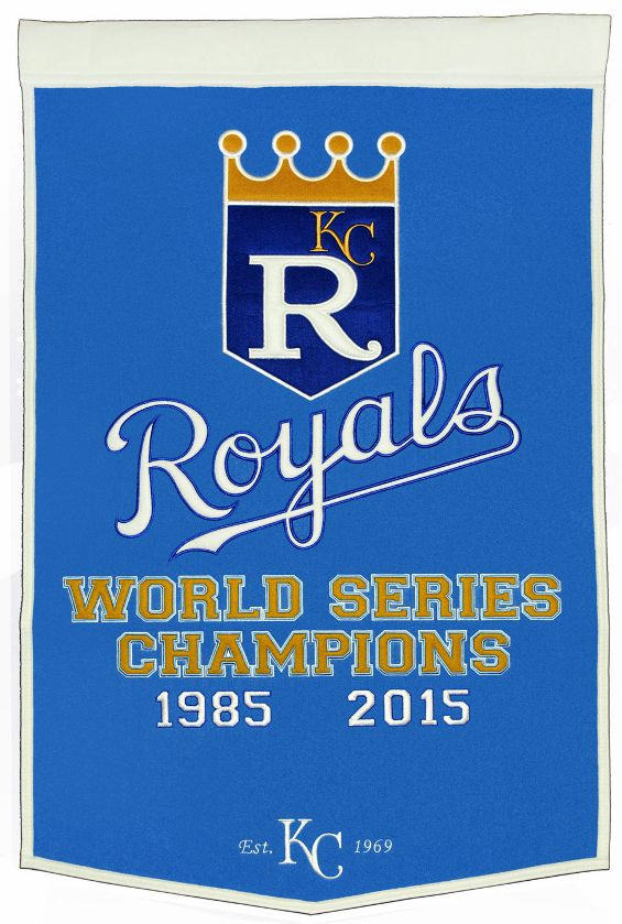 Kansas City Royals 1985 2015 World Series Champions Wool Dynasty Banner