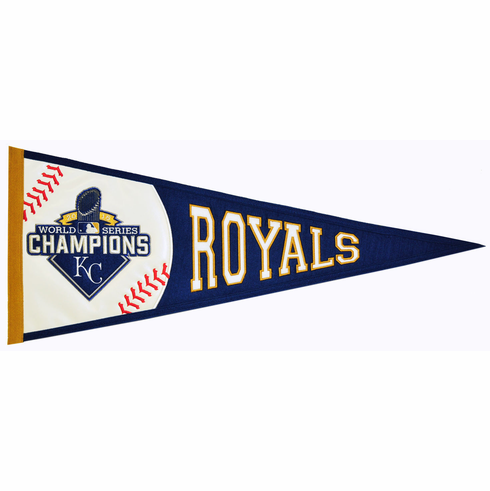 Kansas City Royals 2015 World Series Champions Embroidered Pennant<br>ONLY 2 LEFT!