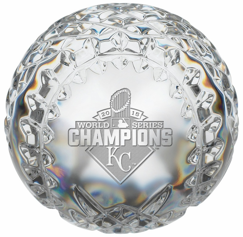 Kansas City Royals 2015 World Series Champions Limited Edition Crystal Baseball by Waterford<br>ONLY 2 LEFT!