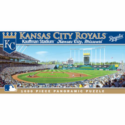 Kauffman Stadium Kansas City Royals 1000pc Panoramic Puzzle<br>LESS THAN 10 LEFT!