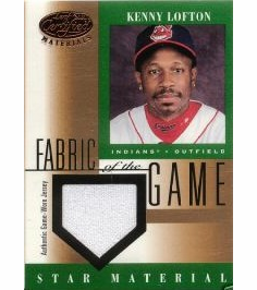 Kenny Lofton 2001 Leaf Certified Game Used Jersey Patch