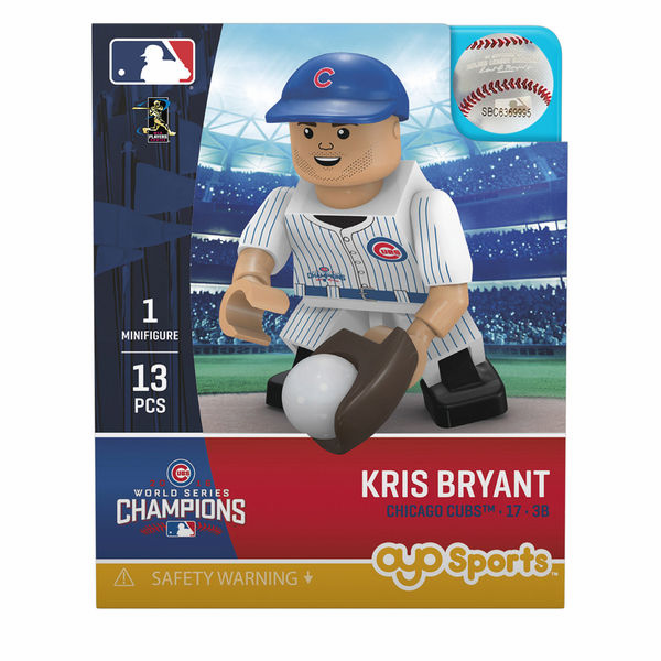 Kris Bryant Chicago Cubs 2016 World Series Champions OYO Mini Figure<br>ONLY 4 LEFT!