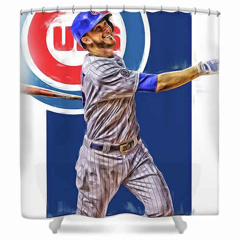 Kris Bryant Chicago Cubs Baseball Shower Curtain