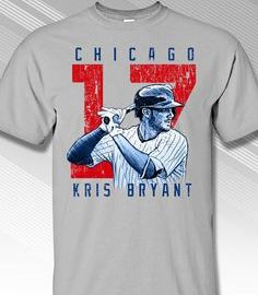 Kris Bryant Rough Cut Chicago 17 T-Shirt<br>Short or Long Sleeve<br>Youth Med to Adult 4X