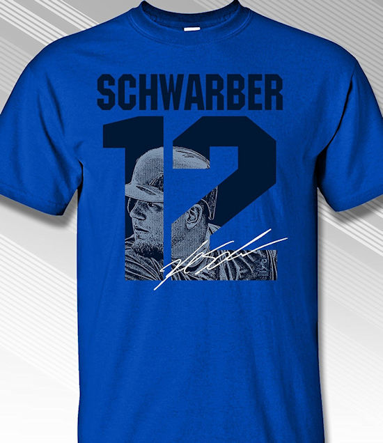 Kyle Schwarber Chicago #12 T-Shirt<br>Short or Long Sleeve<br>Youth Med to Adult 4X