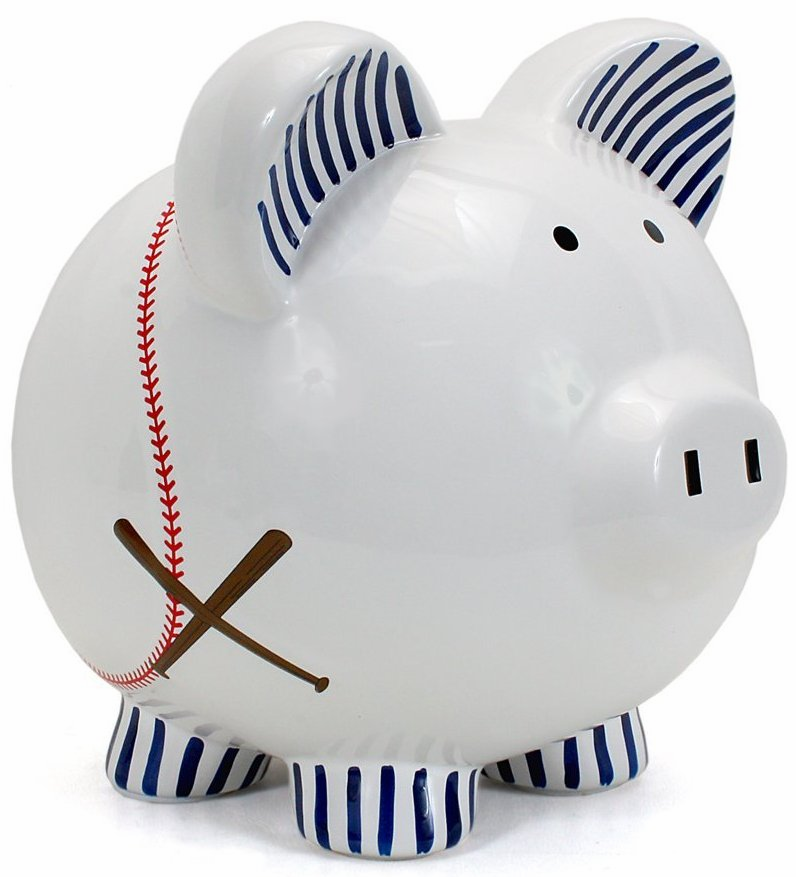Large Baseball Piggy Bank