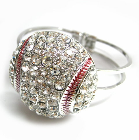 Large Crystal Baseball Cuff Bracelet<br>ONLY 6 LEFT!
