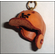 Leather Baseball Helmet Key Chain<br>ONLY 3 LEFT!
