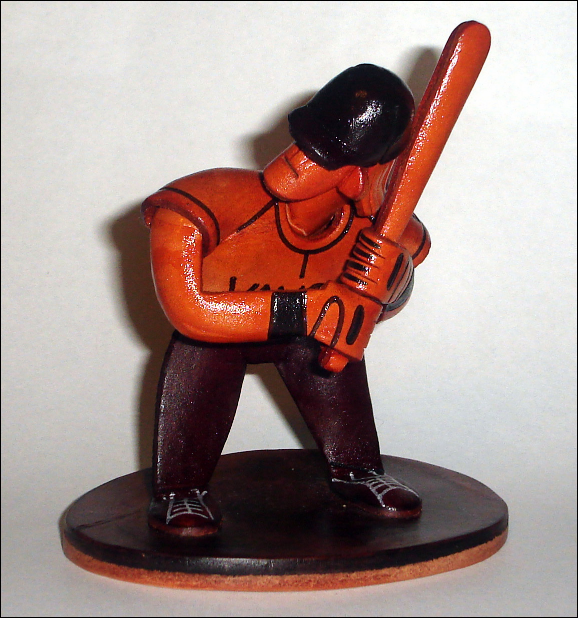 Leather Baseball Player<br>ONLY 2 LEFT!