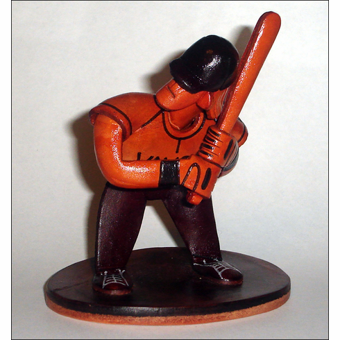 Leather Baseball Player<br>RETIRED DESIGN!<br>ONLY 2 LEFT!