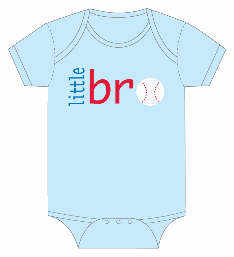 little bro Baseball Onesie