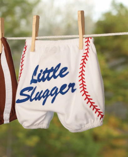 Little Slugger 0-6mo Baseball Diaper Cover