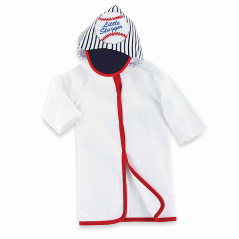 Little Slugger Baby Baseball Hooded Towel<br>0-12mo