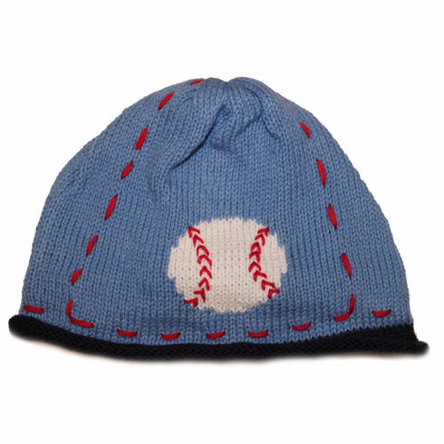 Little Slugger Baseball Applique 12mo Hat<br>ONLY 1 LEFT!