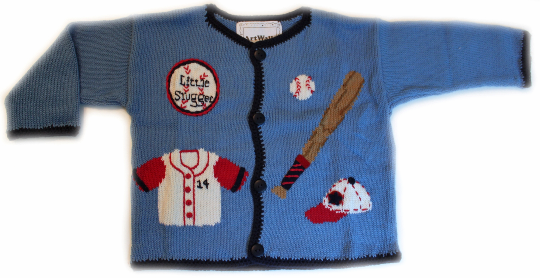 Little Slugger Baseball Applique Sweater