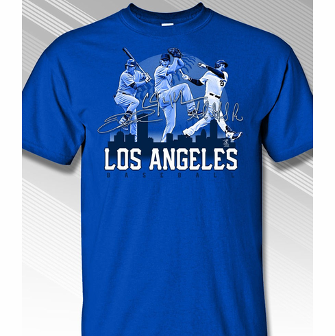 Los Angeles Baseball City Scape T-Shirt<br>Short or Long Sleeve<br>Youth Med to Adult 4X