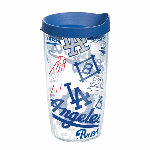 Los Angeles Dodgers All Over Wrap Set of Cups with Lids by Tervis