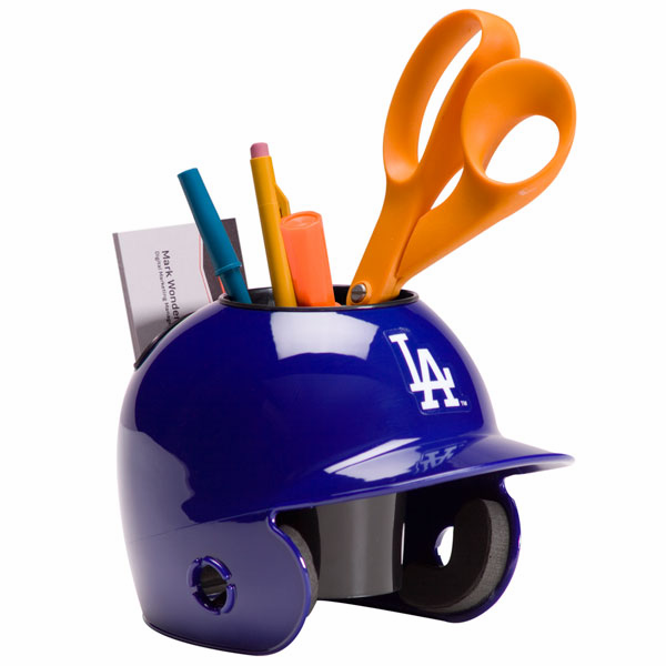 Los Angeles Dodgers Baseball Helmet Desk Caddy<br>LESS THAN 10 LEFT!
