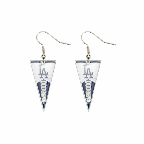 Los Angeles Dodgers Baseball Pennant Earrings<br>LESS THAN 6 LEFT!