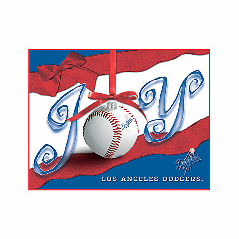 Los Angeles Dodgers Boxed Christmas Cards<br>ONLY 1 BOX LEFT!