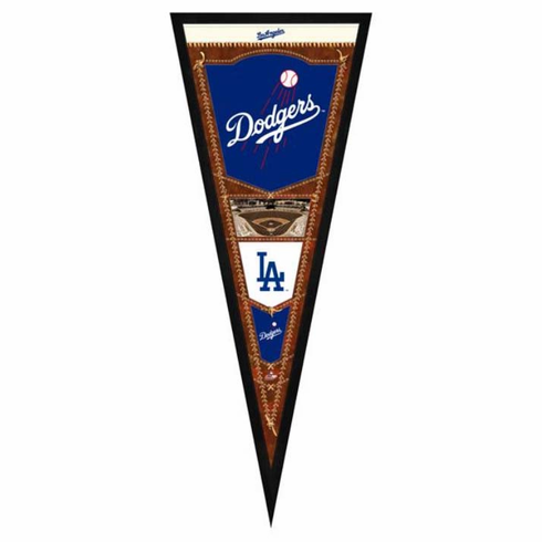 Los Angeles Dodgers Framed Pennant Sign