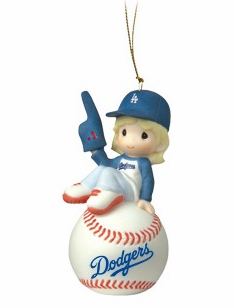 Los Angeles Dodgers I'm Your Number One Fan! Baseball Girl Retired Ornament by Precious Moments<br>ONLY 1 LEFT!