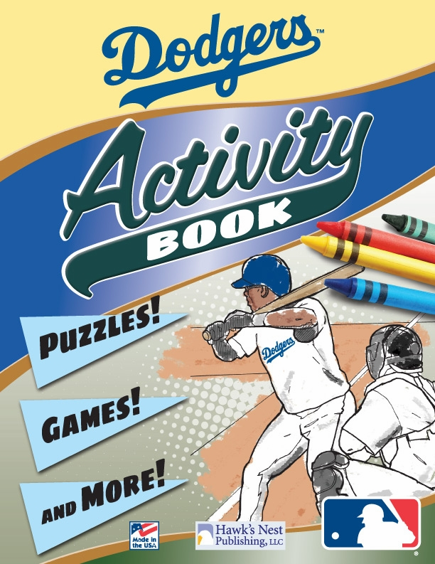 Los Angeles Dodgers MLB Activity Book<br>ONLY 3 LEFT!