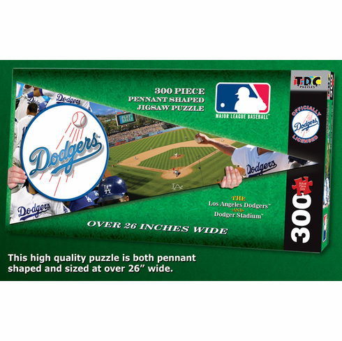 Los Angeles Dodgers MLB Pennant Shaped 300pc Puzzle<br>LESS THAN 8 LEFT!