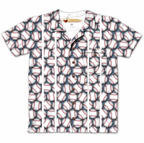 Lots of Baseballs Buttons Design Sublimated T-Shirt<br>Youth Med to Adult 2X