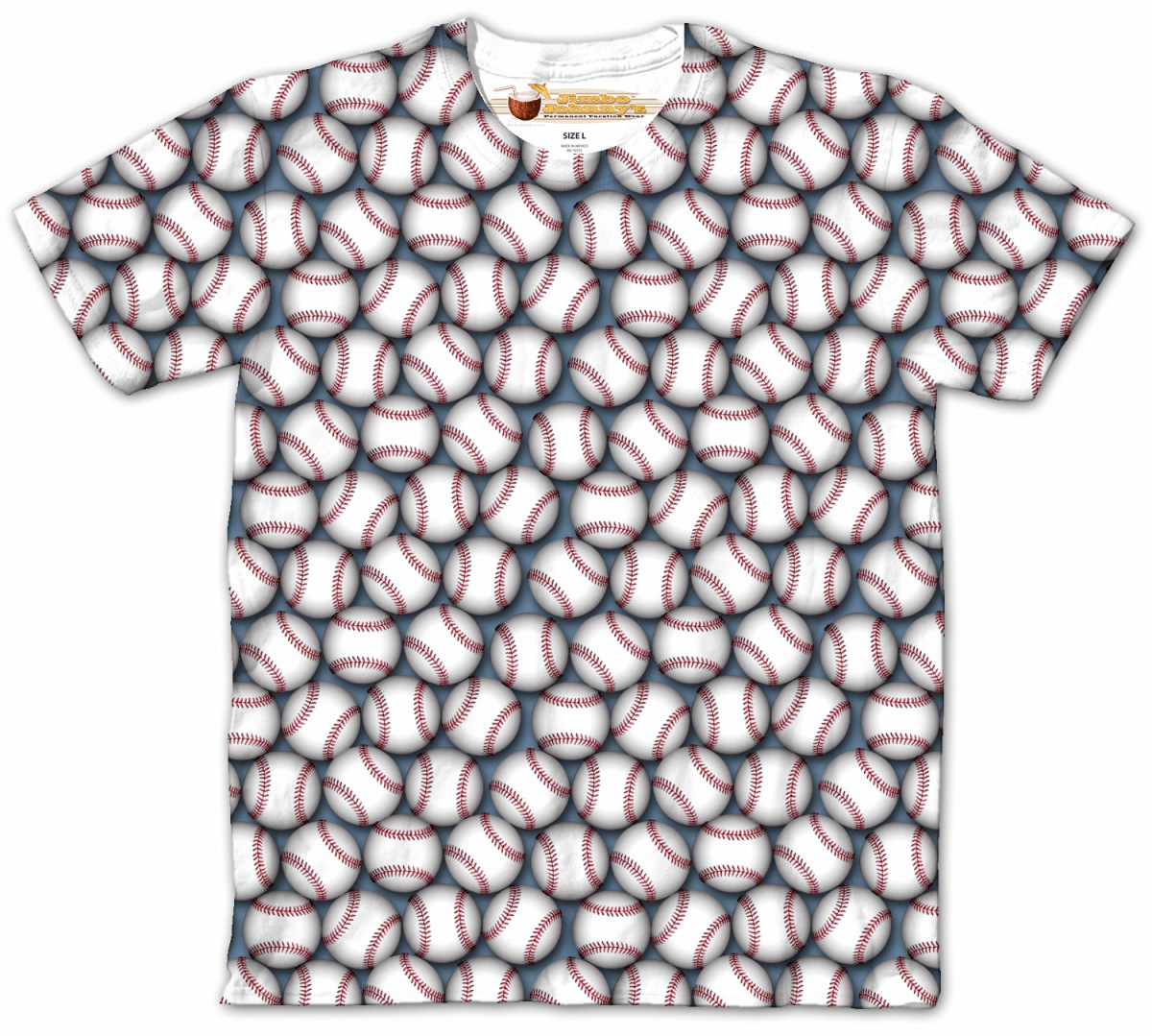 Lots of Baseballs Crew Design Sublimated Adult T-Shirt