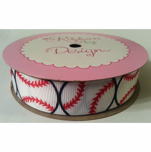 Lots of Baseballs Grosgrain Ribbon