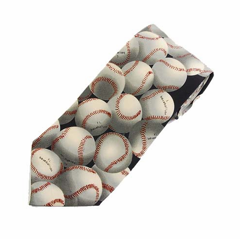 Lots of Baseballs Men's Polyester Tie