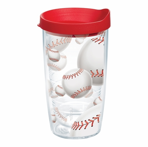 Lots of Baseballs Wrap 16oz Tumbler with Lid by Tervis<br>ONLY 6 LEFT!