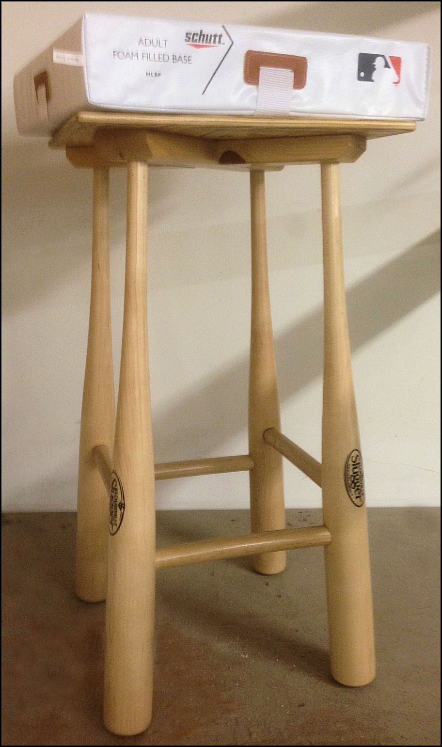 Louisville Slugger Natural Baseball Bat Stool