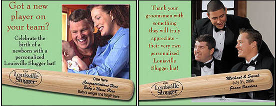 Louisville Slugger Personalized Wood Bats