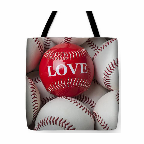 Love Baseball Tote Bag<br>3 SIZES AVAILABLE!