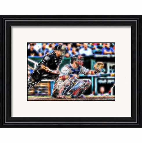 Lovin' The Game Baseball Catcher and Umpire Framed Print<br>4 SIZES AVAILABLE!