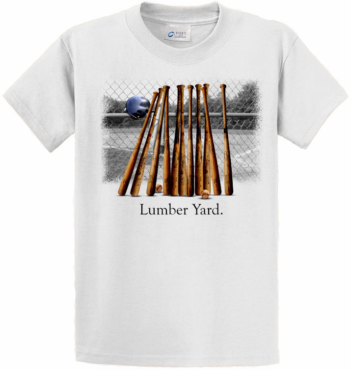 Lumber Yard Baseball T-Shirt<br>Choose Your Color<br>Youth Med to Adult 4X