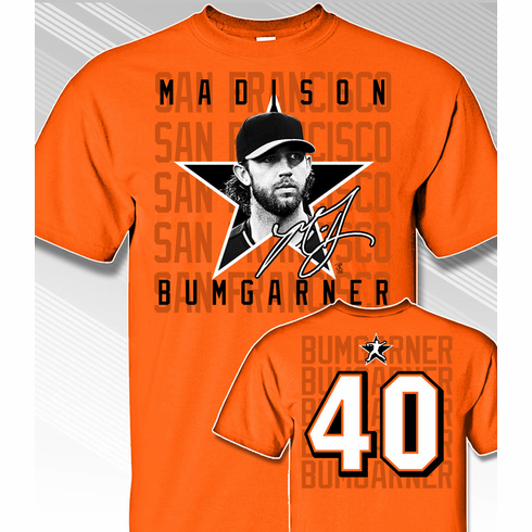 Madison Bumgarner Star Power T-Shirt<br>Short or Long Sleeve<br>Youth Med to Adult 4X