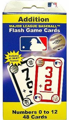 Major League Baseball Addition Flash Cards