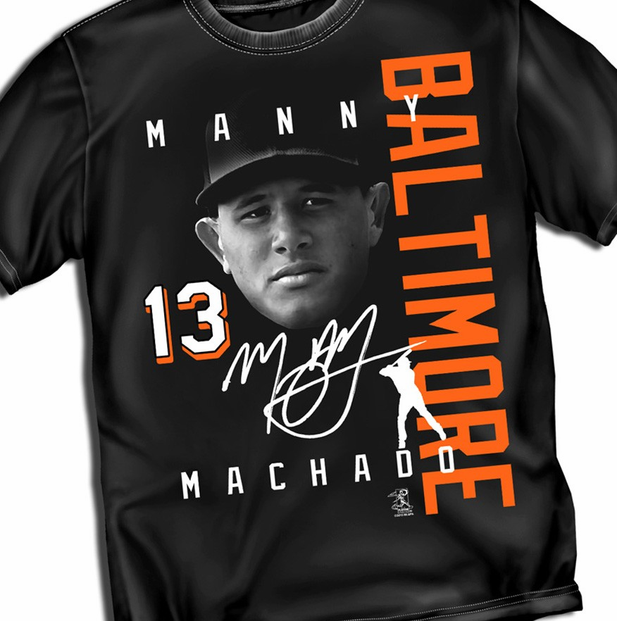 Manny Machado BALTIMORE Signature T-Shirt<br>Short or Long Sleeve<br>Youth Med to Adult 4X