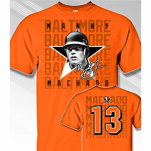 Manny Machado Star Power T-Shirt<br>Short or Long Sleeve<br>Youth Med to Adult 4X