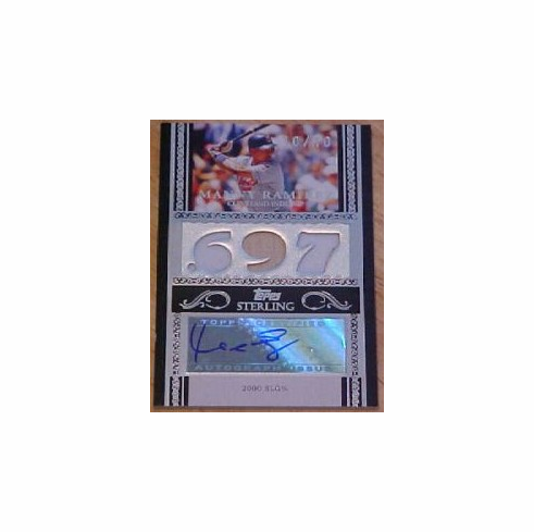 Manny Ramirez 2007 Topps Sterling Autograph Triple Patch 10/10
