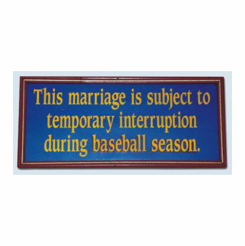 Marriage Wooden Sports Sign