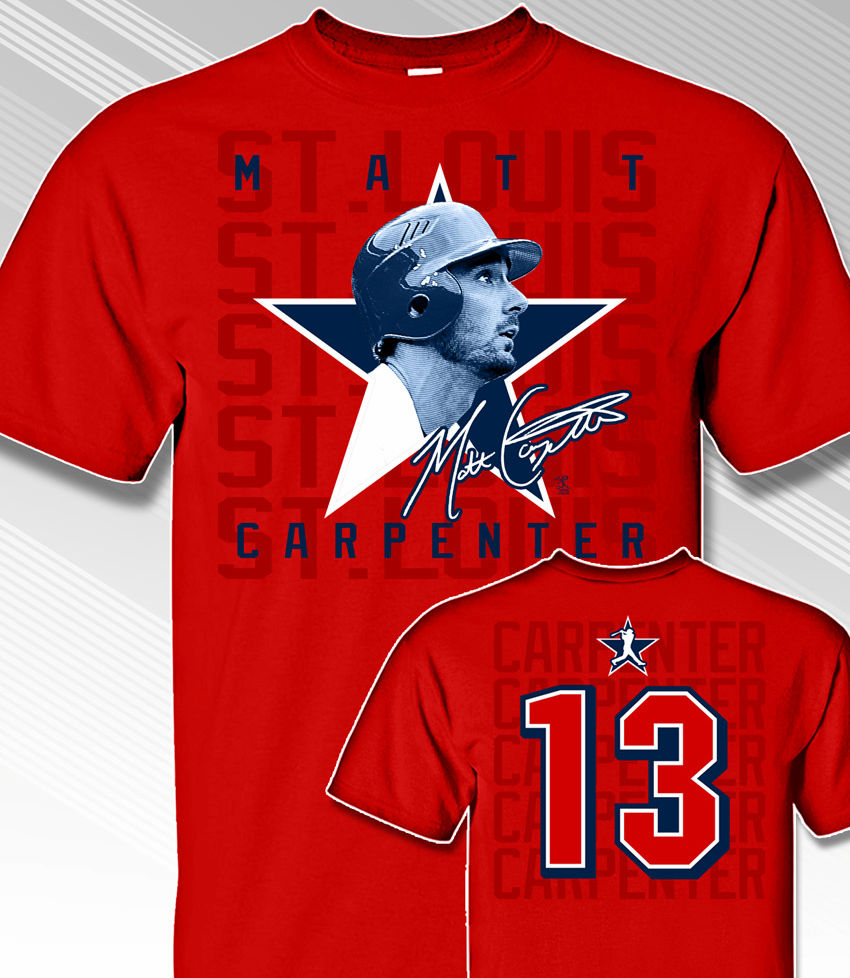 Matt Carpenter Star Power T-Shirt<br>Short or Long Sleeve<br>Youth Med to Adult 4X