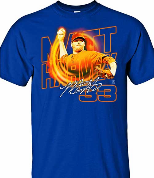 Matt Harvey Heat T-Shirt<br>Short or Long Sleeve<br>Youth Med to Adult 4X