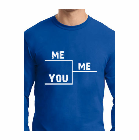 ME Beating YOU Bracket T-Shirt<br>Choose Your Color<br>Youth Med to Adult 4X